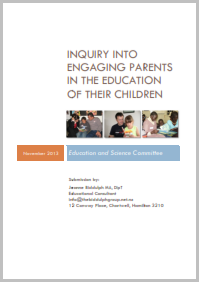 Submission on Inquiry into engaging parents in the education of their children