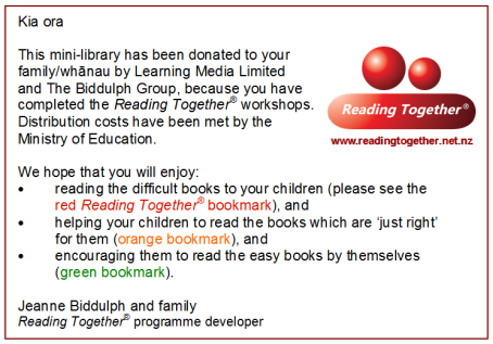 Label on Reading Together® mini-library