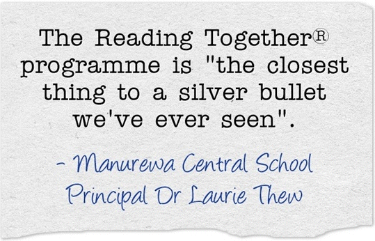 Reading Together® quote from Dr Laurie Thew